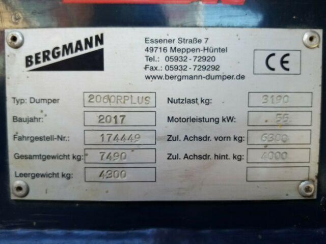 Gebrauchter Allraddumper Bergmann 2060 R+